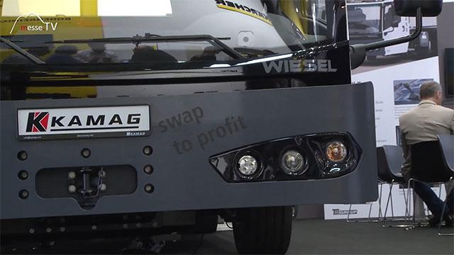 KAMAG: Neue Fahrerkabine Wiesel Wechselbrückenhubwagen