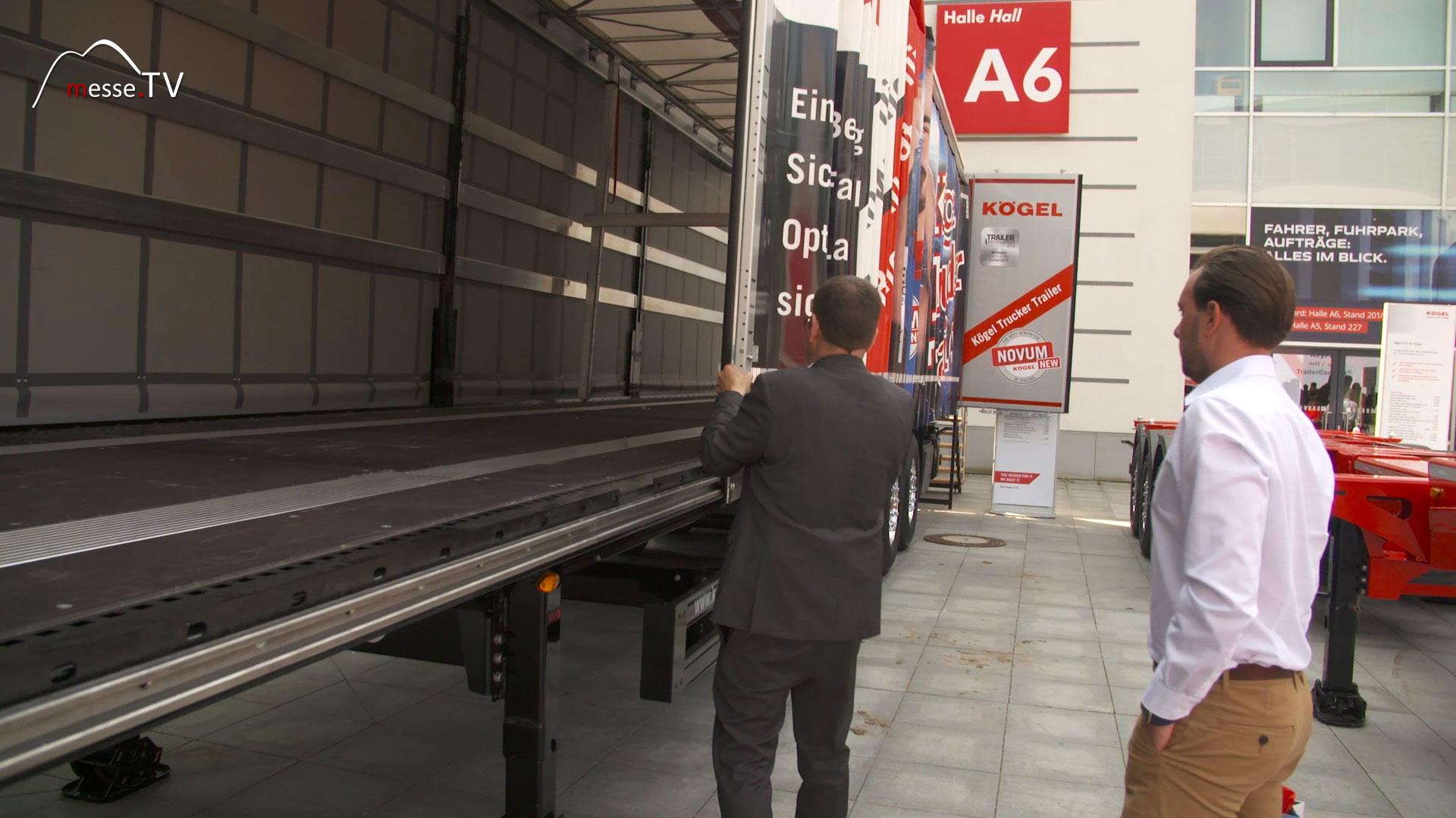KÖGEL Trailer: LKW-Plane Verschluss mit Slider