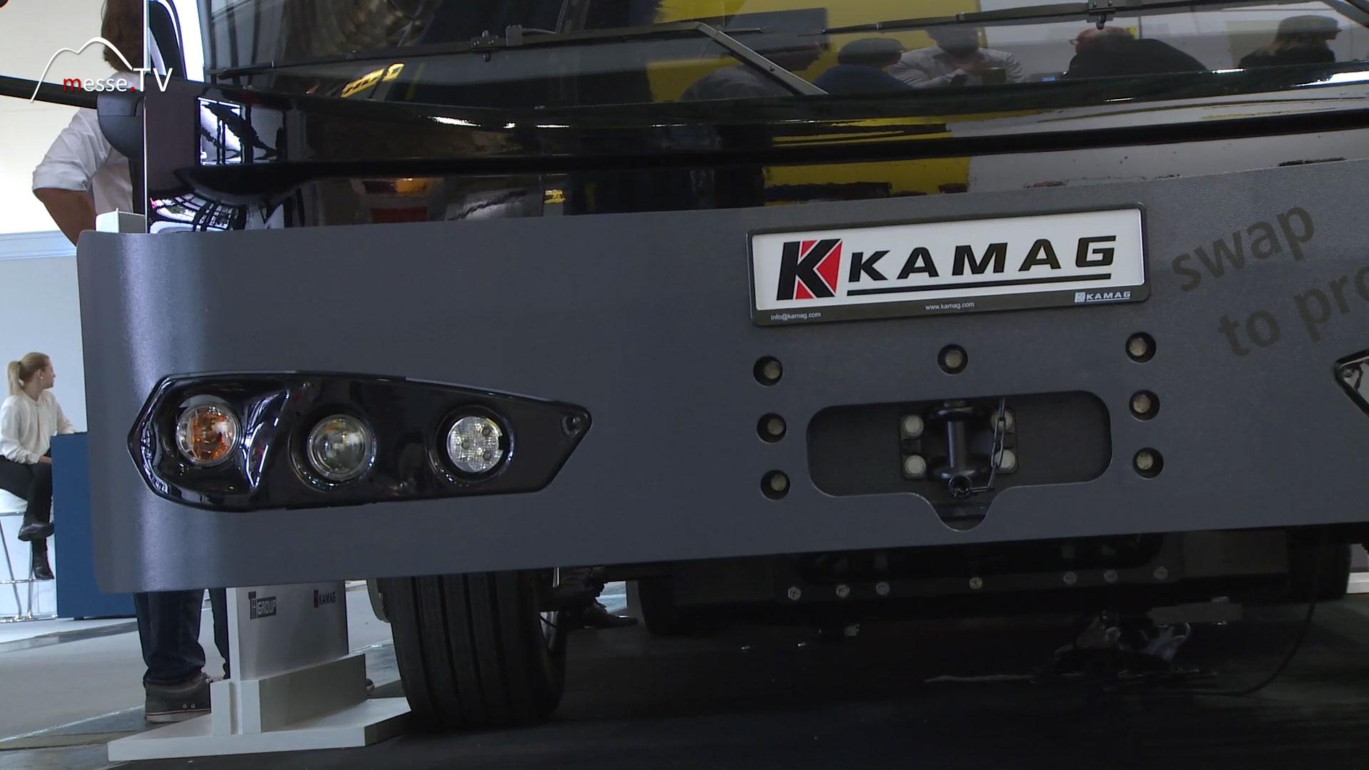 Kamag Wiesel Wechselbrückenhubwagen niedriger Einstieg für Fahrer