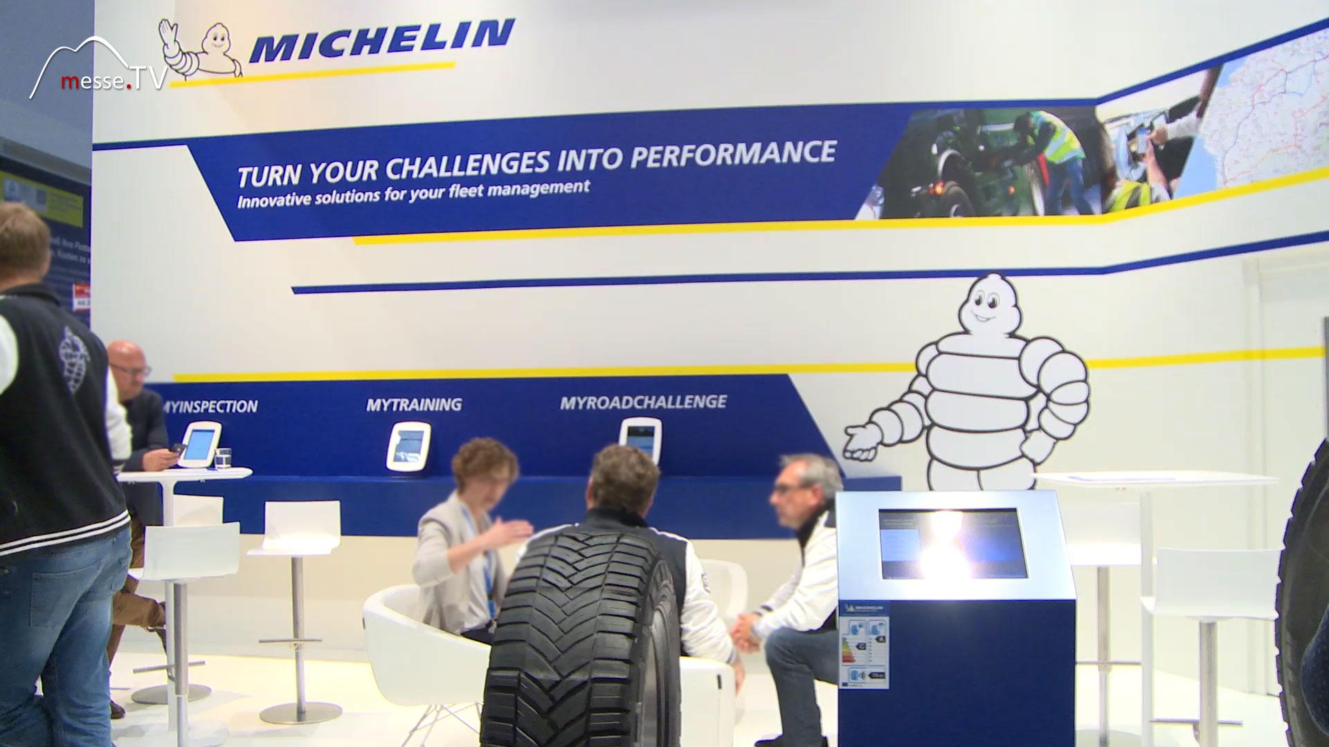 MICHELIN Messeauftritt transport logistic Messe München