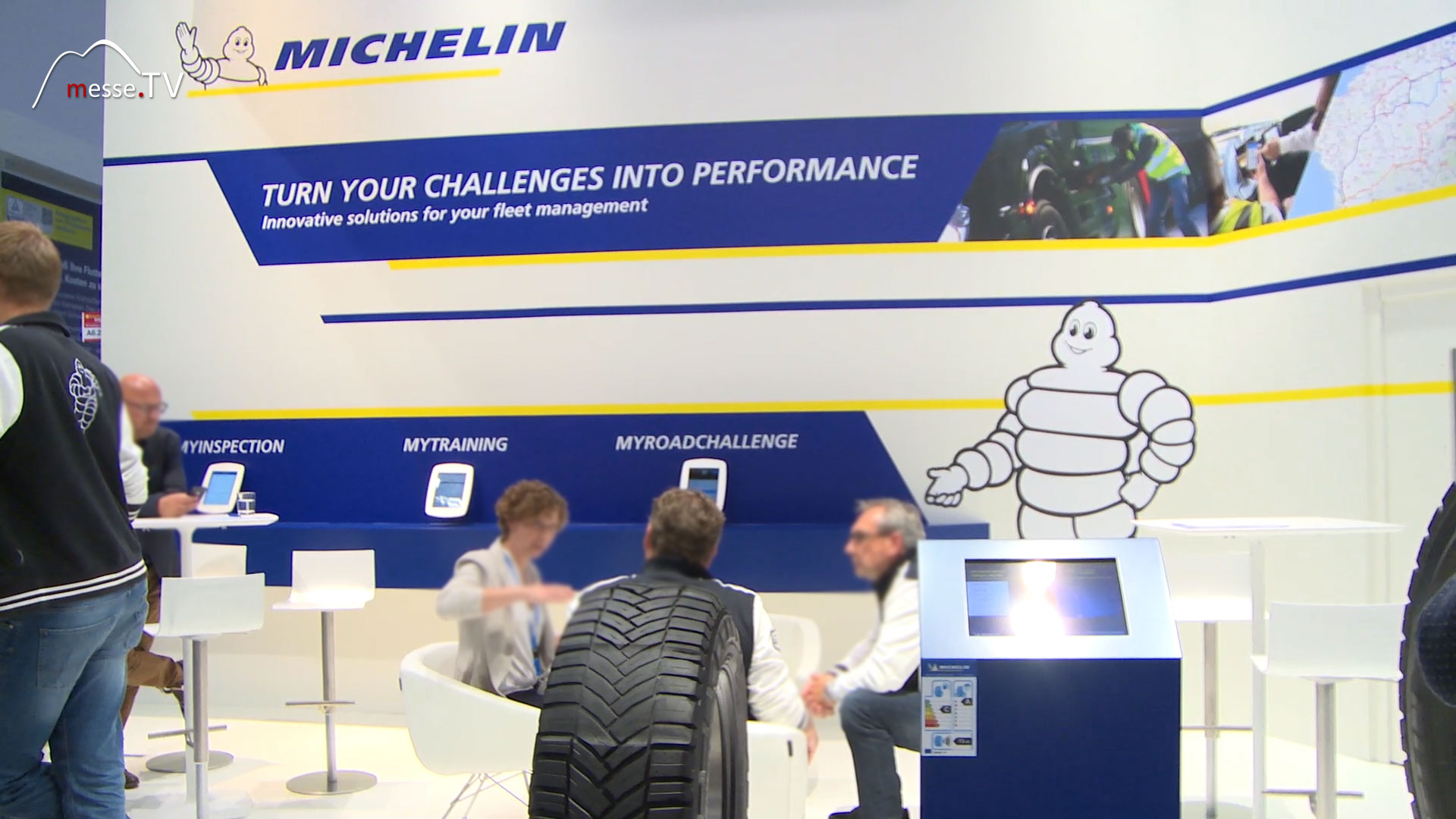 MICHELIN Messestand transport logistic 2019 Messe München