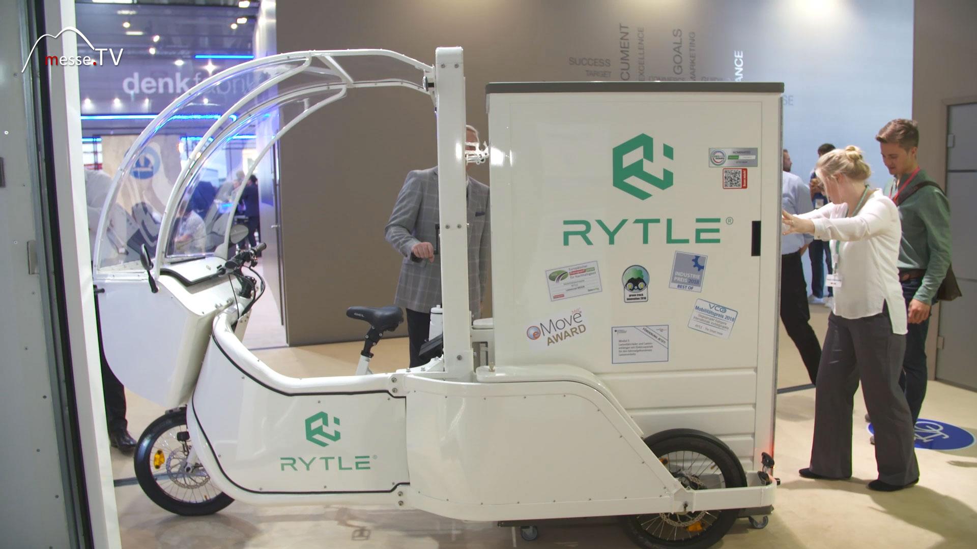 RYTLE Zustellefahrzeug Pedelec mit vorkonfektionierter Box