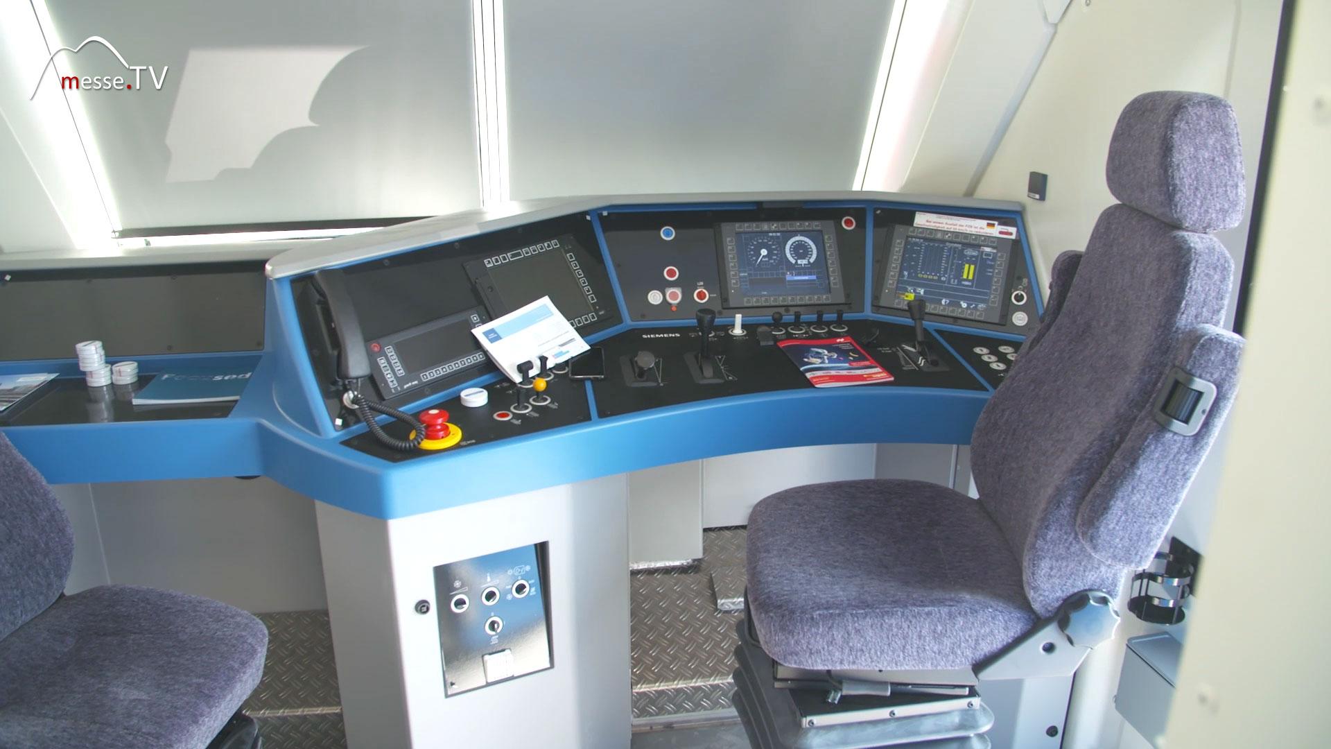 Siemens Smartron Lokomotive Lokführer-Bereich / Fahrerraum