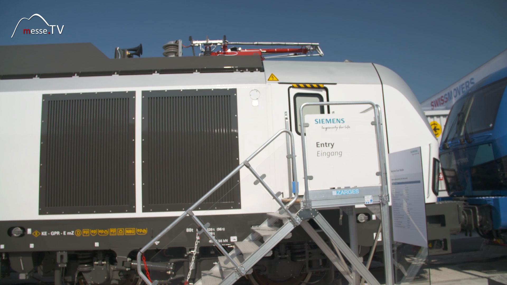 Siemens Vectron Dual Mode Lokomotive Eingang
