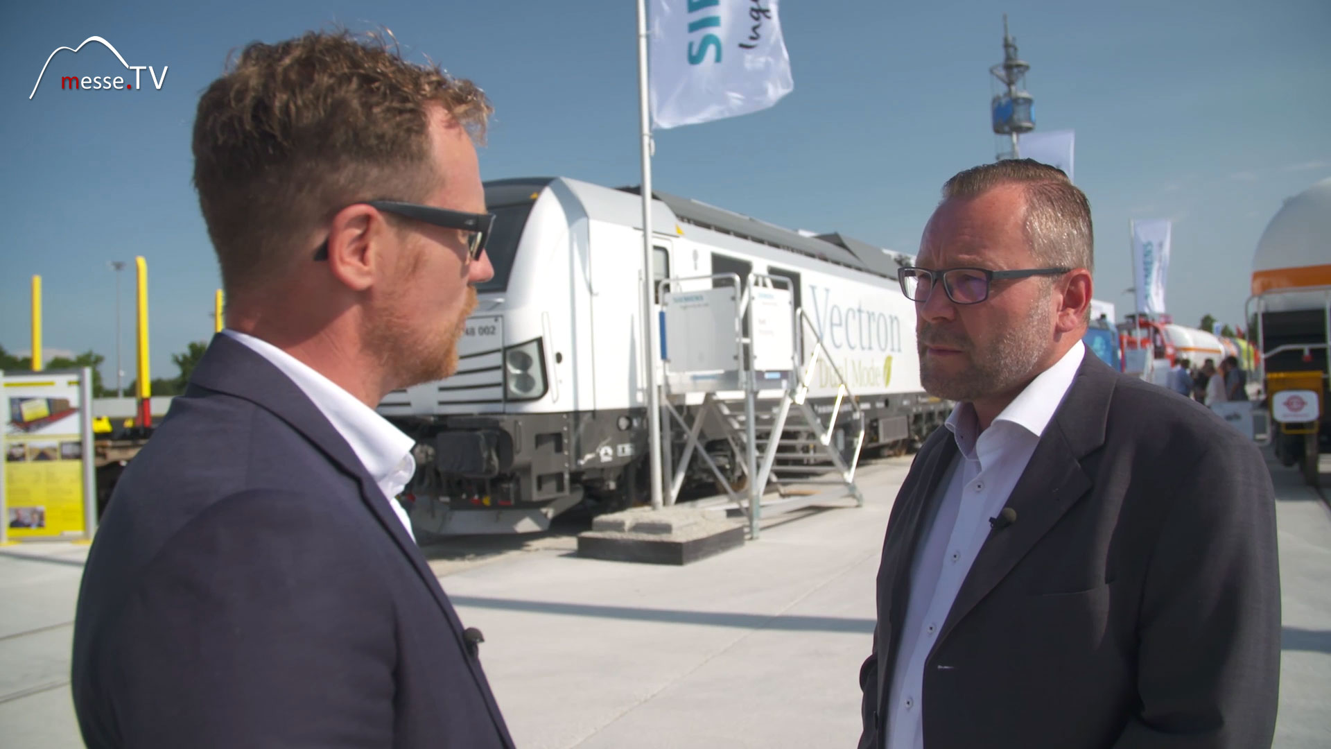 Siemens Vectron Dual Mode Lokomotive   Interview Messe München transport logistic