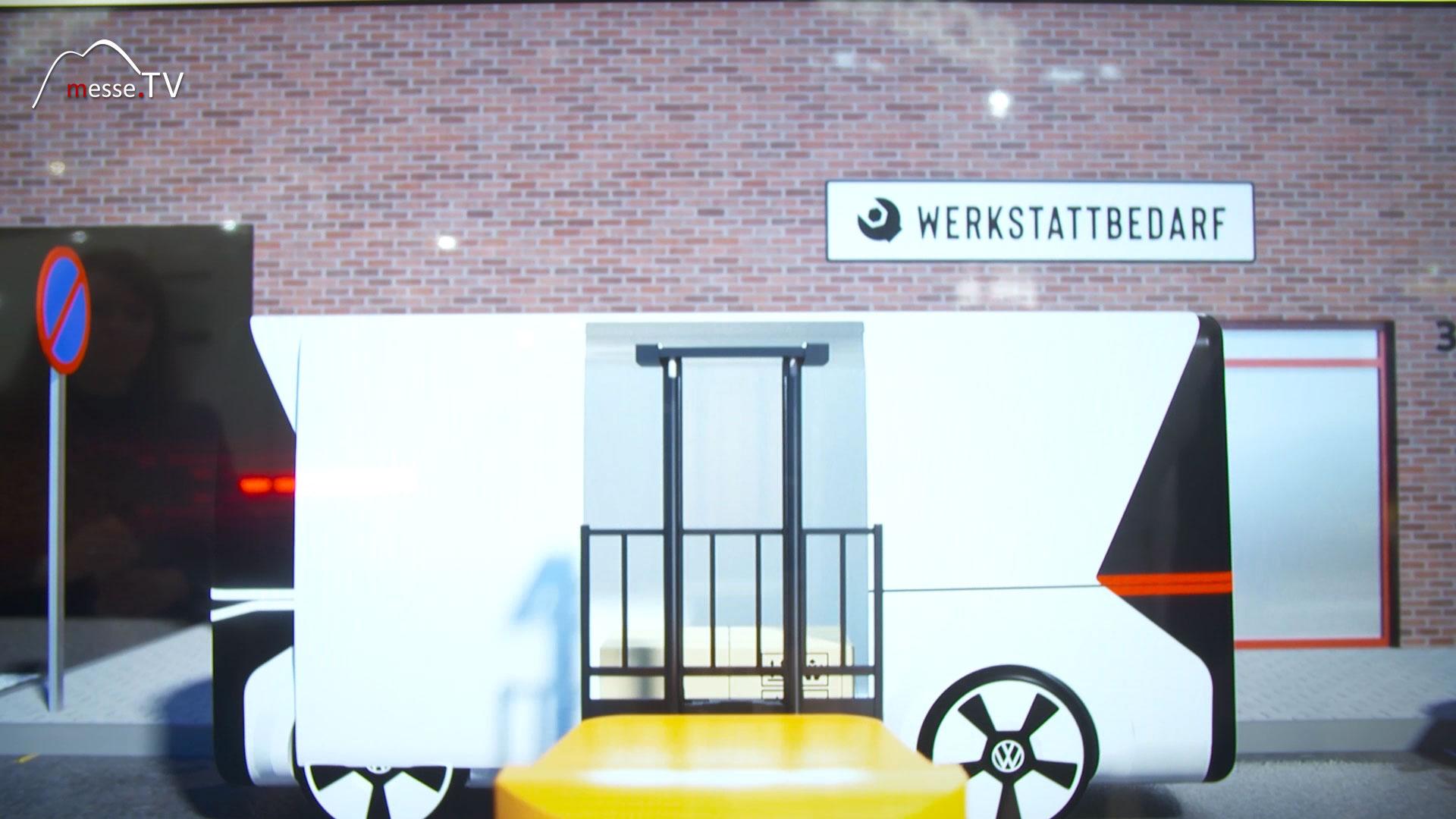 VW Nutzfahrzeuge Simulation autonomes Fahren auf Werksgelände