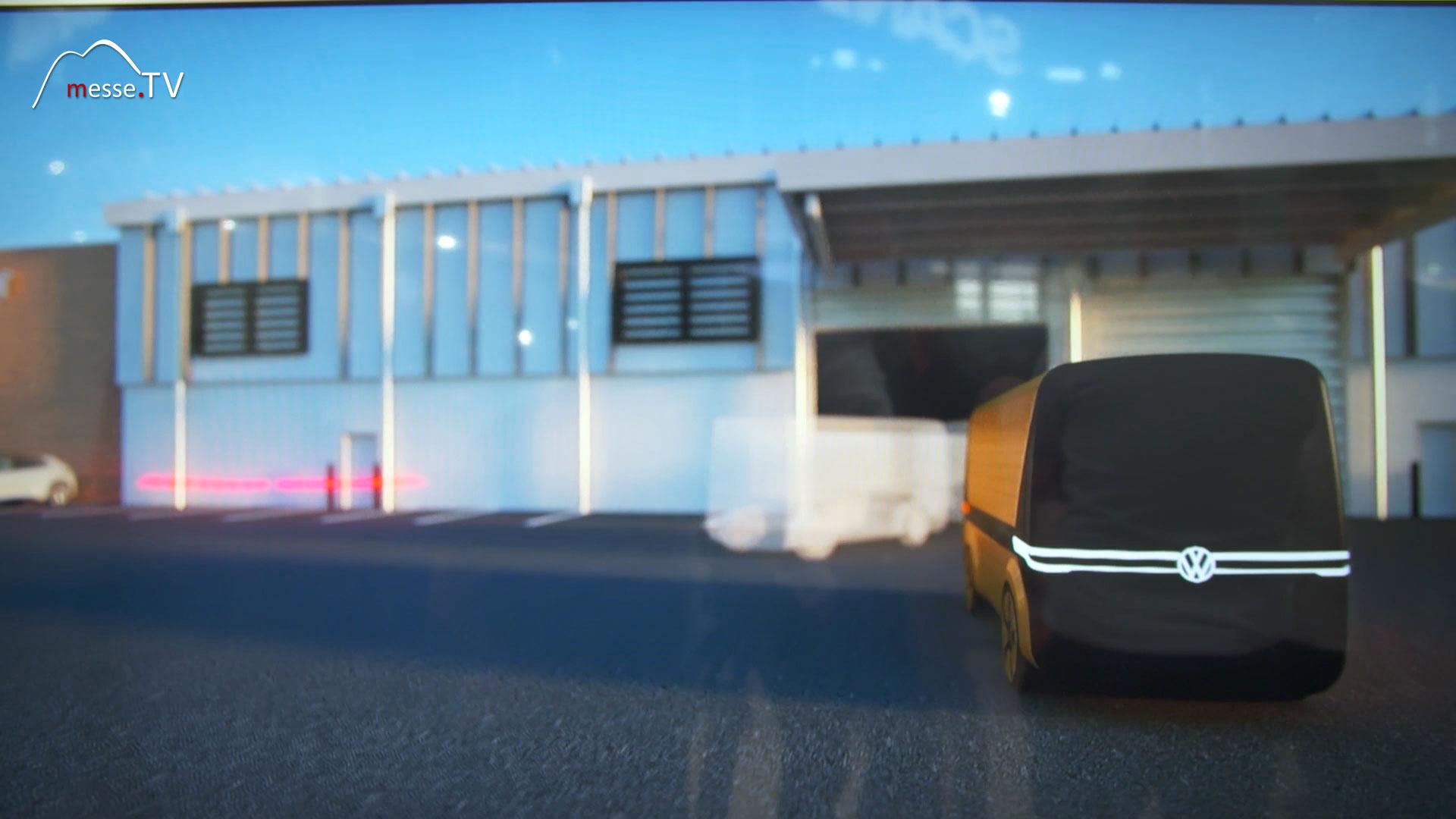 VW Nutzfahrzeuge Simulation autonomes Fahren transport logistic 2019