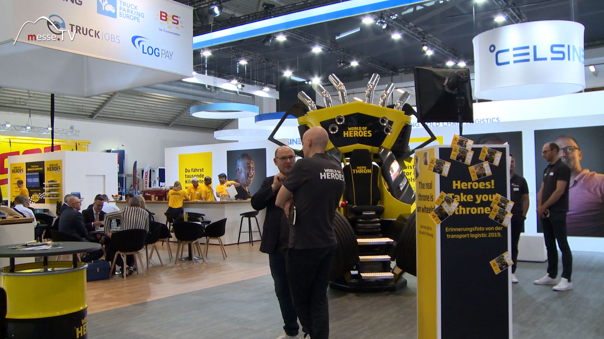 World of Heroes: Messestand transport logistic 2019 Messe München