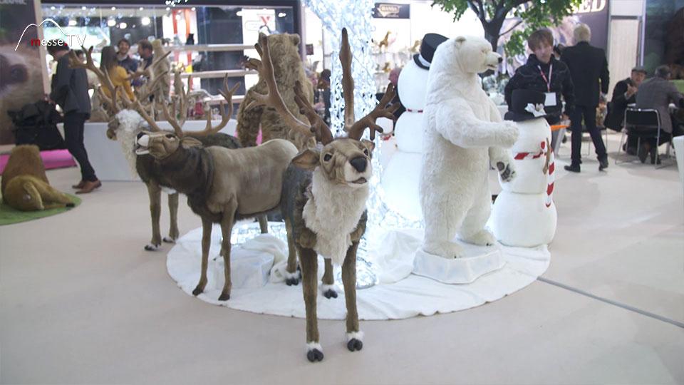 Realistische Plüschtiere Hirsche Eisbär Hansa Spielwarenmesse 2019 Nürnberg