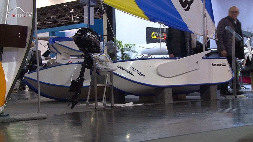 Banana-boot als Ruderboot Motorboot Segelboot