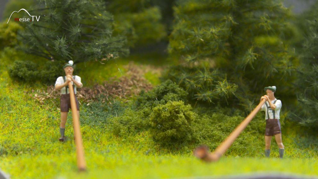 Noch Modellbau Alphornbläser mit Sound
