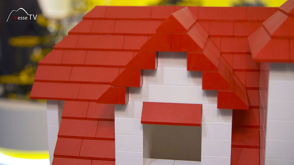 Dachgaube Bausteine Hubelino Lego kompatibel