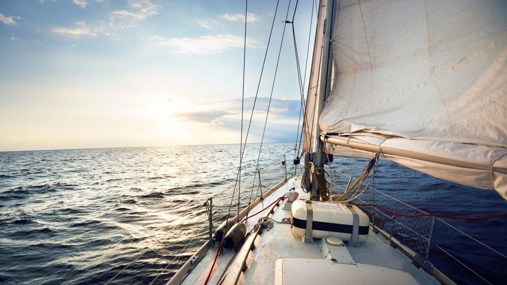 Segeln mit einem Segelboot