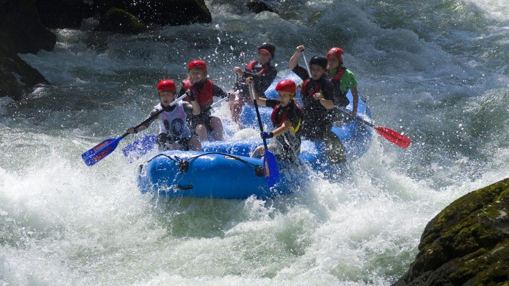 Wassersport Rafting Fluss Berge