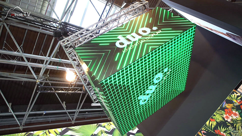 Duo Display LED-CUBE Messesystem