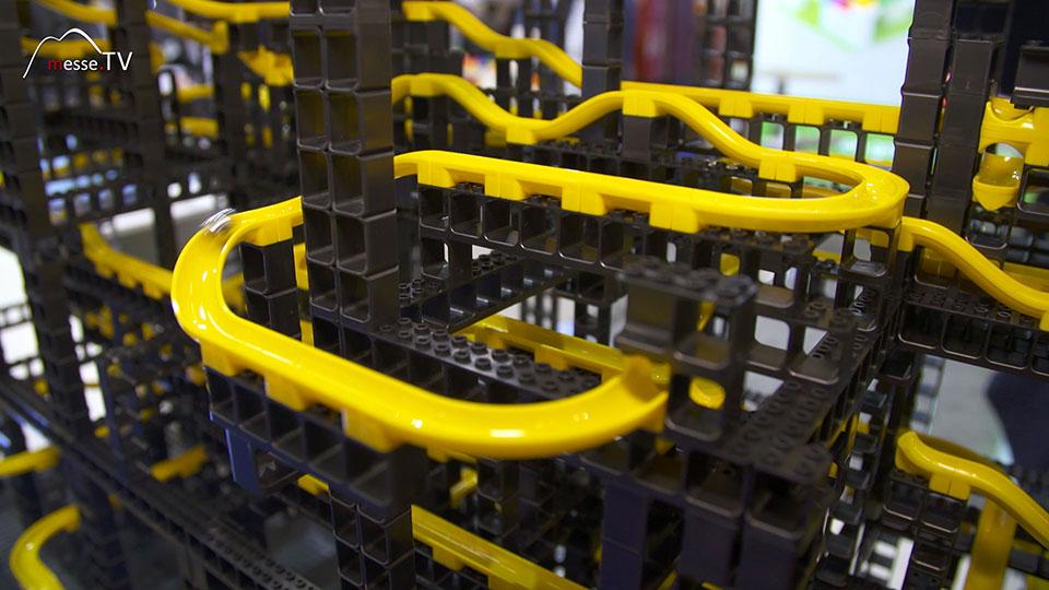 Hubelino Kugelbahn Elemente kompatibel mit Lego Bausteinen