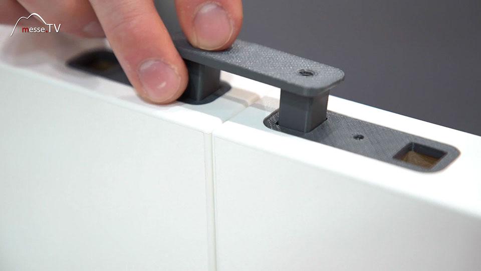 Messebau Wandsystem G40 Quick Steckverbindung