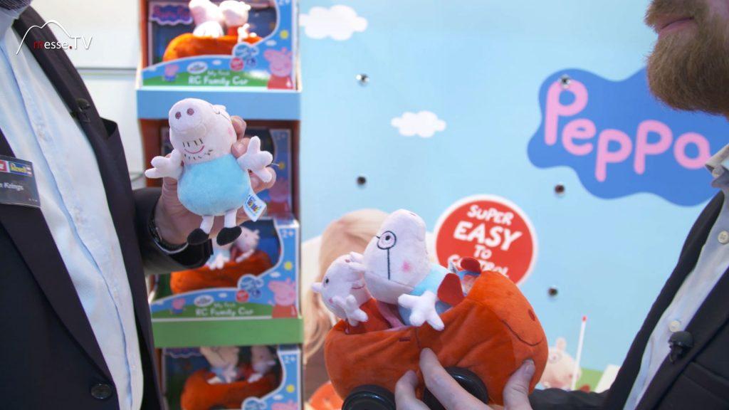 Revell ferngesteuertes RC Auto aus Plüsch mit Peppa Pig Kuscheltier