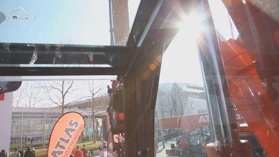 Bagger Dachscheibe verglast Rundumblick 360Grad
