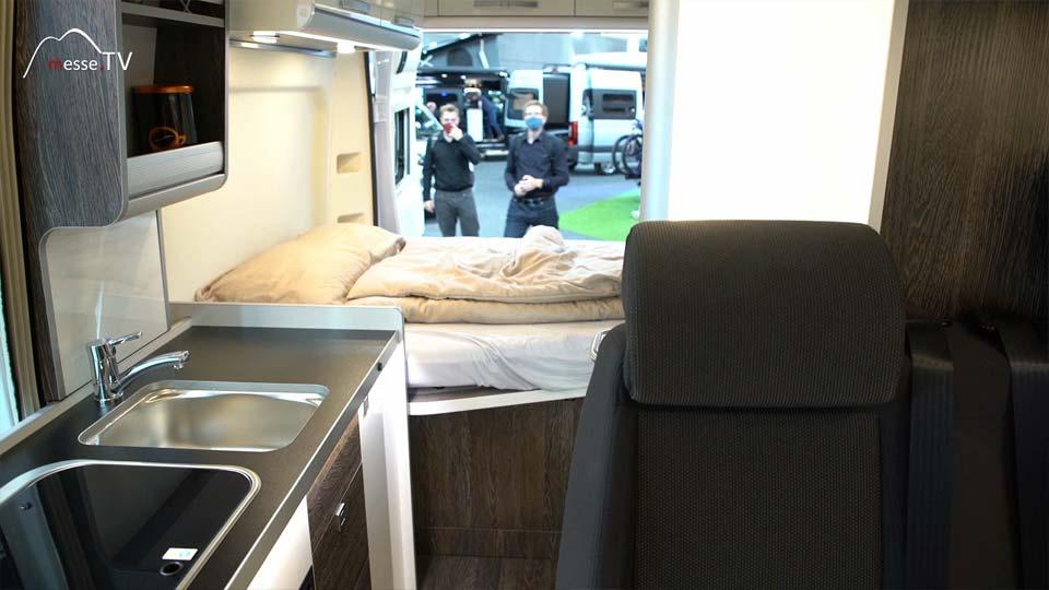 Westfalia Reisemobil Küche Schlafbereich